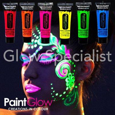 Neon UV боя за лице и тяло